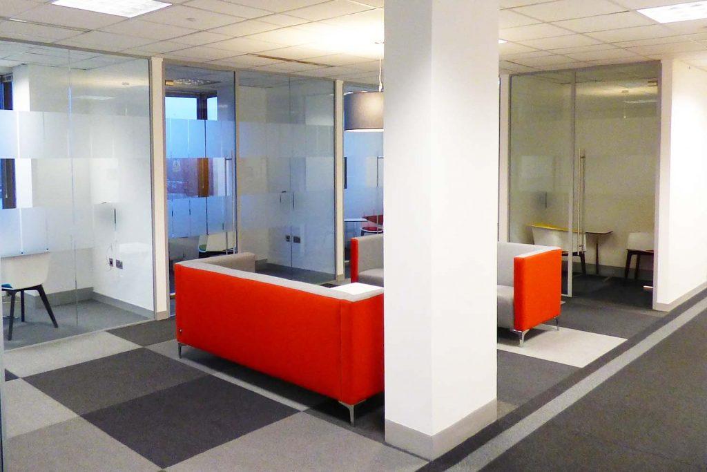 Kantar, Hanger Lane, London W5. Glass Partitioning forming Meeting Rooms